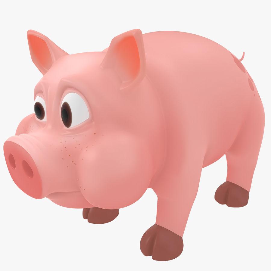 Мультфильм свинья royalty-free 3d model - Preview no. 1