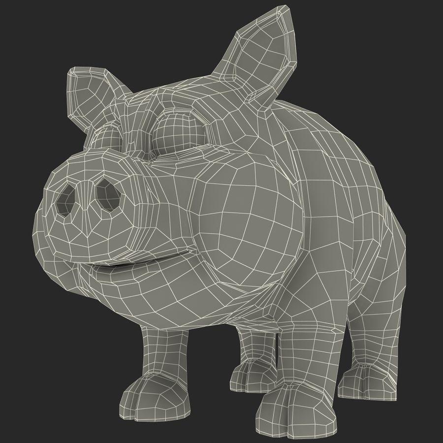 Cartoon Pig royalty-free 3d model - Preview no. 21