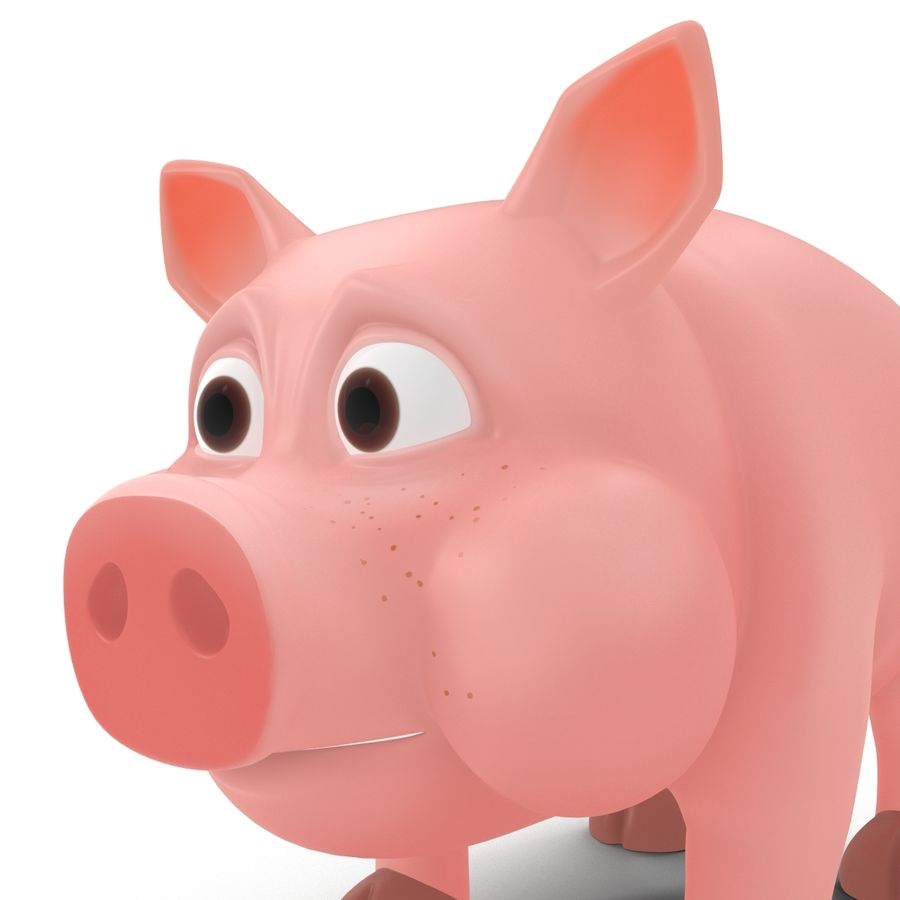Cartoon Schwein royalty-free 3d model - Preview no. 12