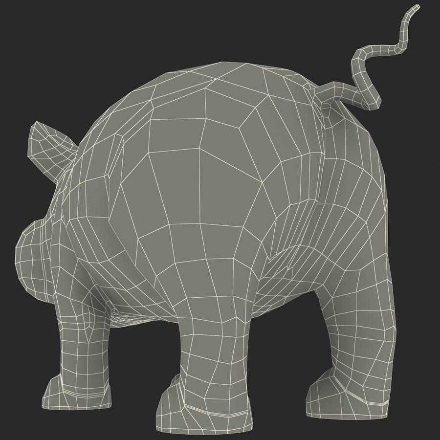 Cartoon Pig royalty-free 3d model - Preview no. 22