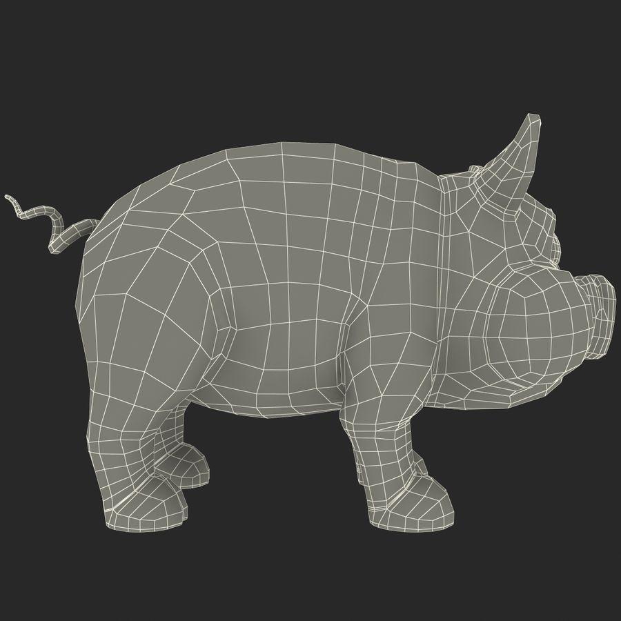 Cartoon Pig royalty-free 3d model - Preview no. 19