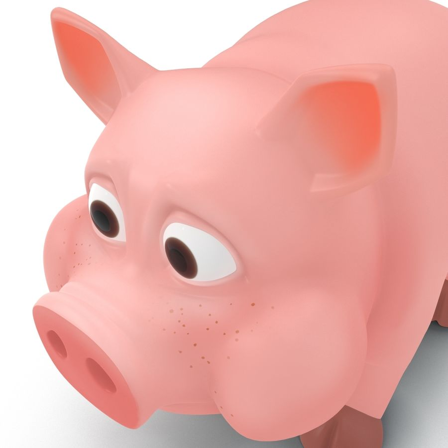 Cartoon Schwein royalty-free 3d model - Preview no. 16