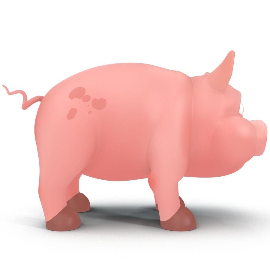 Cartoon Pig royalty-free 3d model - Preview no. 2