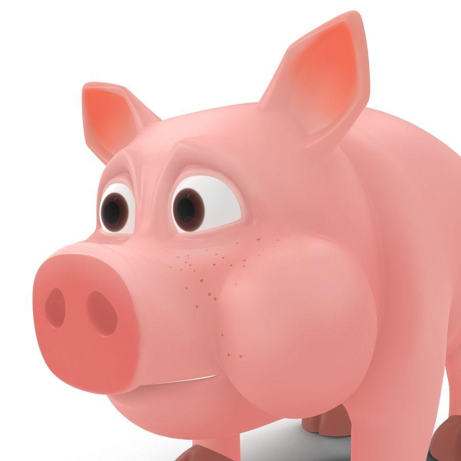 Cartoon Pig royalty-free 3d model - Preview no. 12