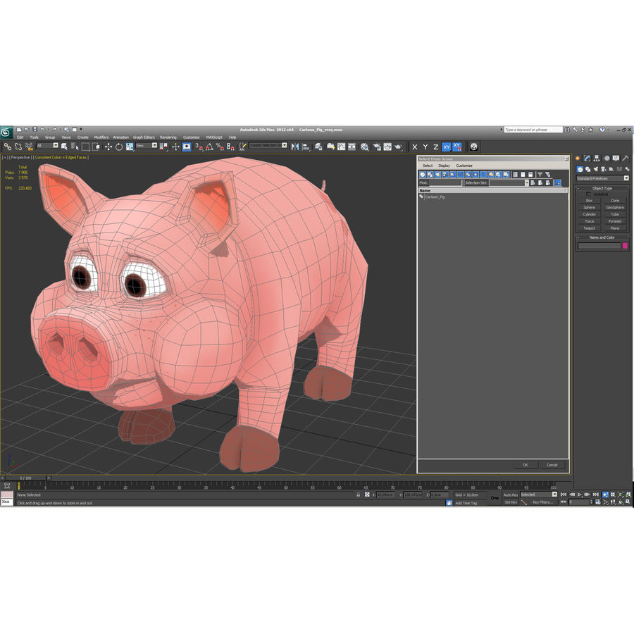 Cartoon Schwein royalty-free 3d model - Preview no. 27