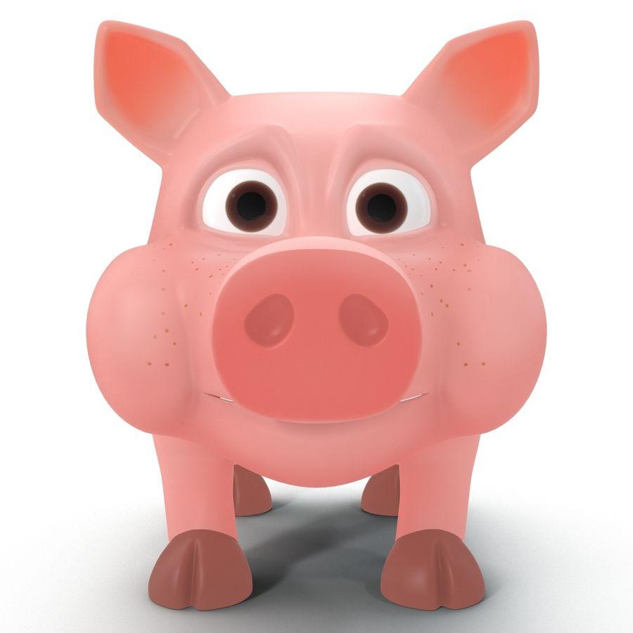 Мультфильм свинья royalty-free 3d model - Preview no. 3