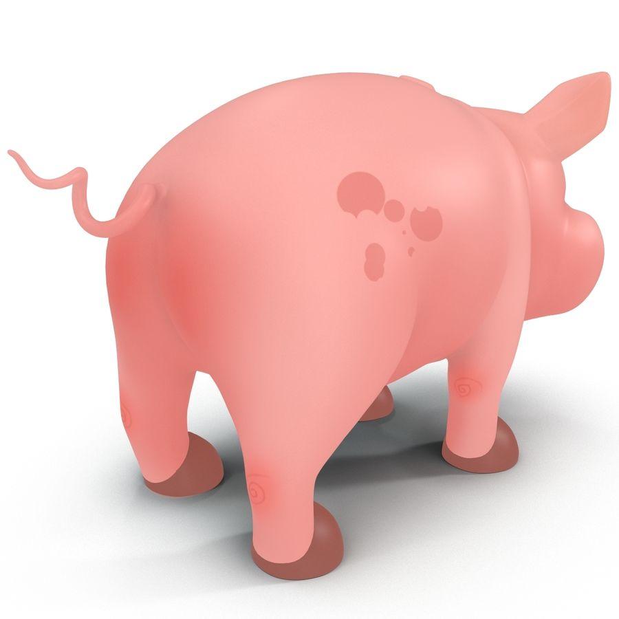 Cartoon Pig royalty-free 3d model - Preview no. 10