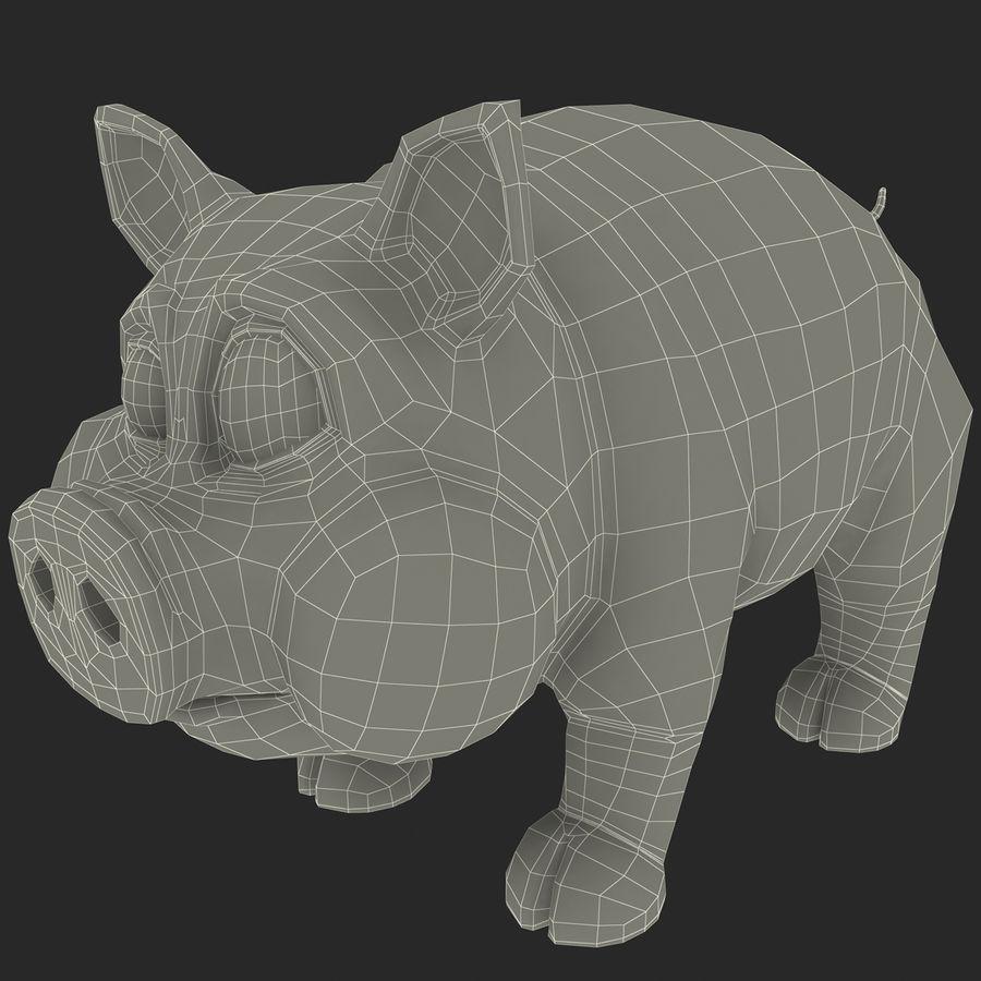 Мультфильм свинья royalty-free 3d model - Preview no. 18