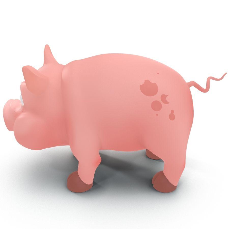 Cartoon Pig royalty-free 3d model - Preview no. 6