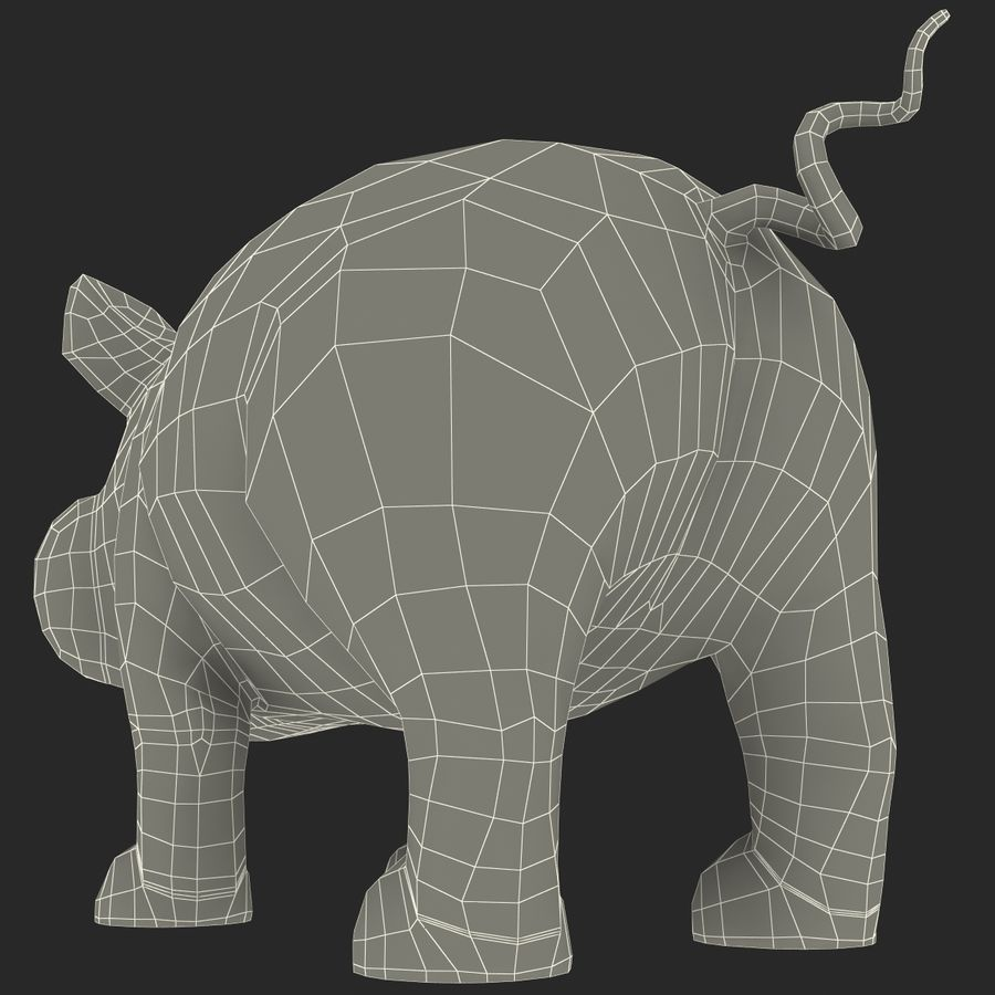 Cerdo de dibujos animados royalty-free modelo 3d - Preview no. 22