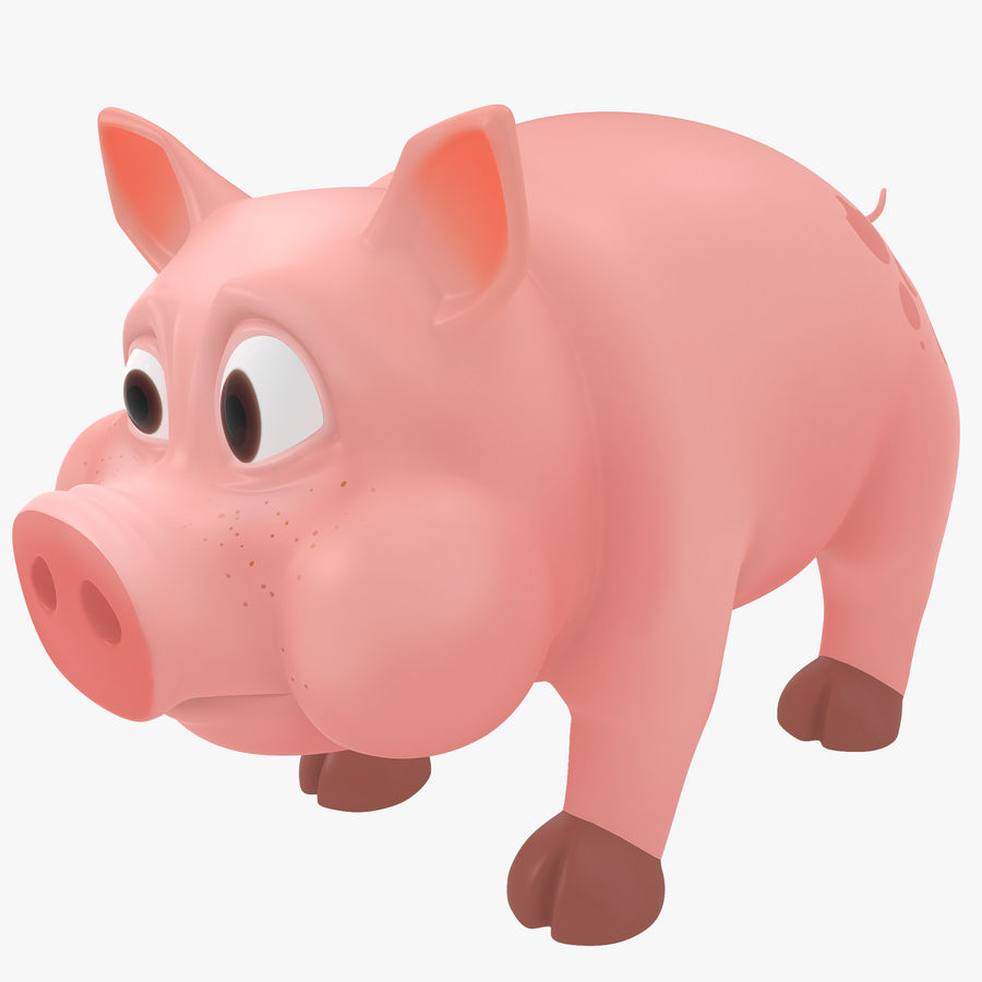 Cartoon Schwein royalty-free 3d model - Preview no. 1