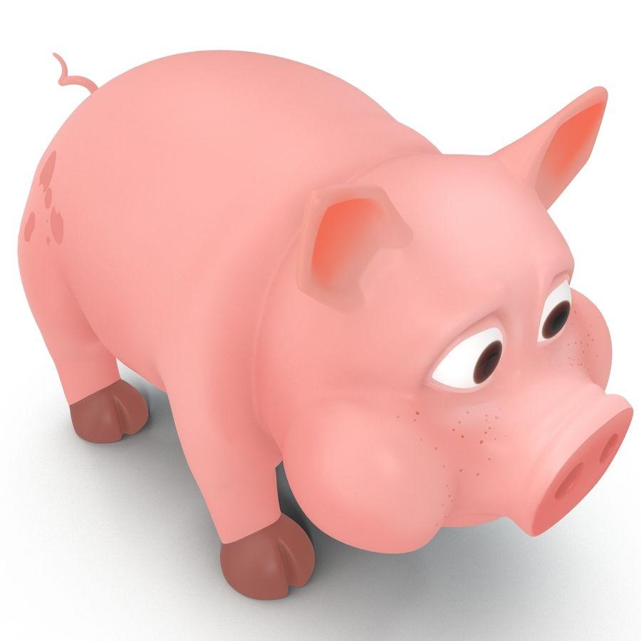 Cartoon Pig royalty-free 3d model - Preview no. 8