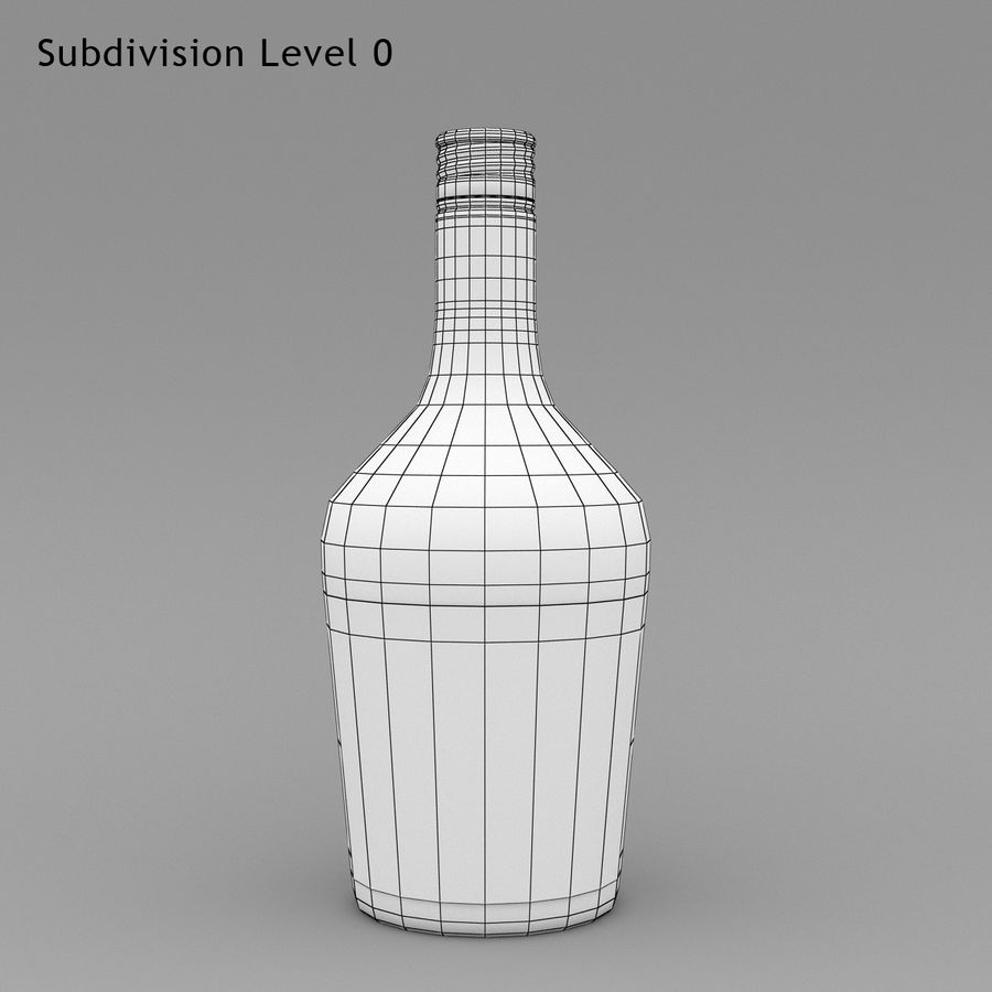 Alcohol Bottle royalty-free 3d model - Preview no. 7