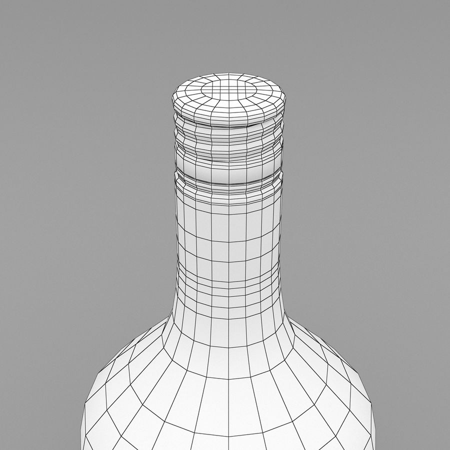 Alcohol Bottle royalty-free 3d model - Preview no. 9