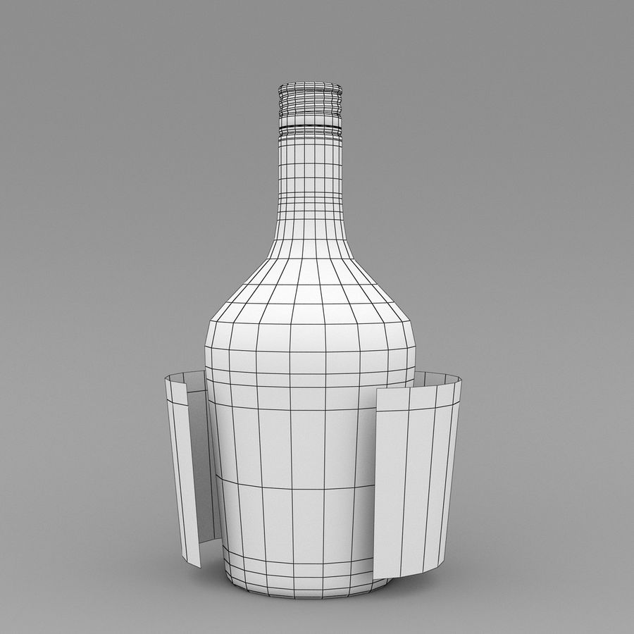 Alcohol Bottle royalty-free 3d model - Preview no. 10