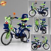 儿童自行车 3d model