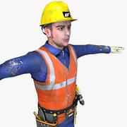 Conjunto de trabajadores en tiempo real modelo 3d
