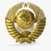 Emblema dello stato sovietico 3d model