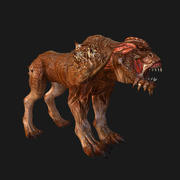 Dog monster (Skinned) 3d model