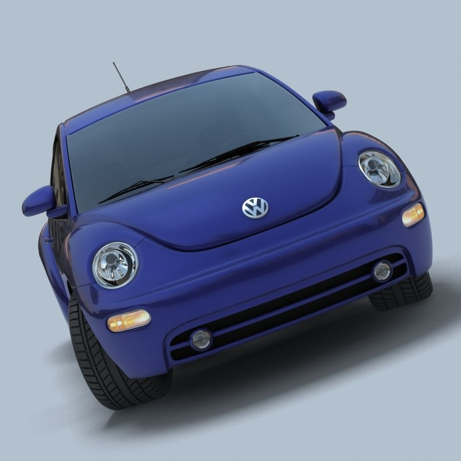 VW New Beetle royalty-free modelo 3d - Preview no. 6