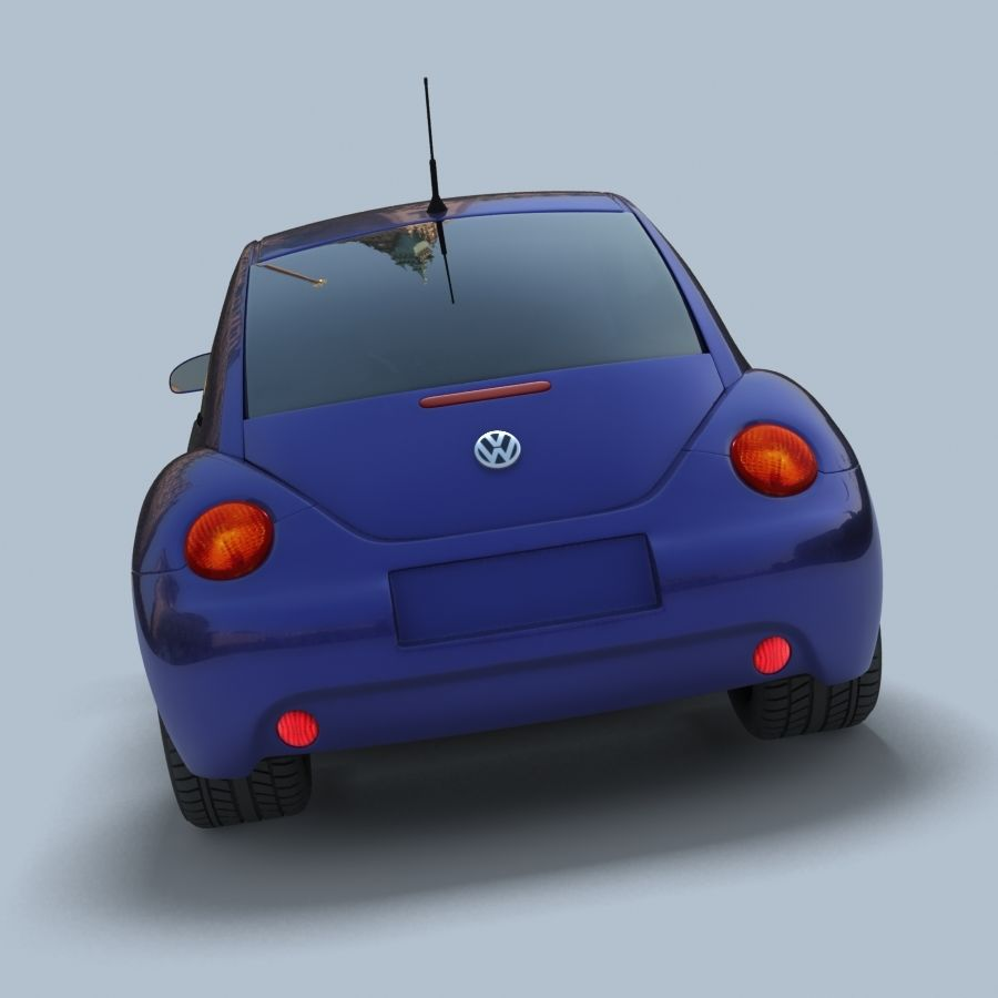 VW New Beetle royalty-free modelo 3d - Preview no. 4
