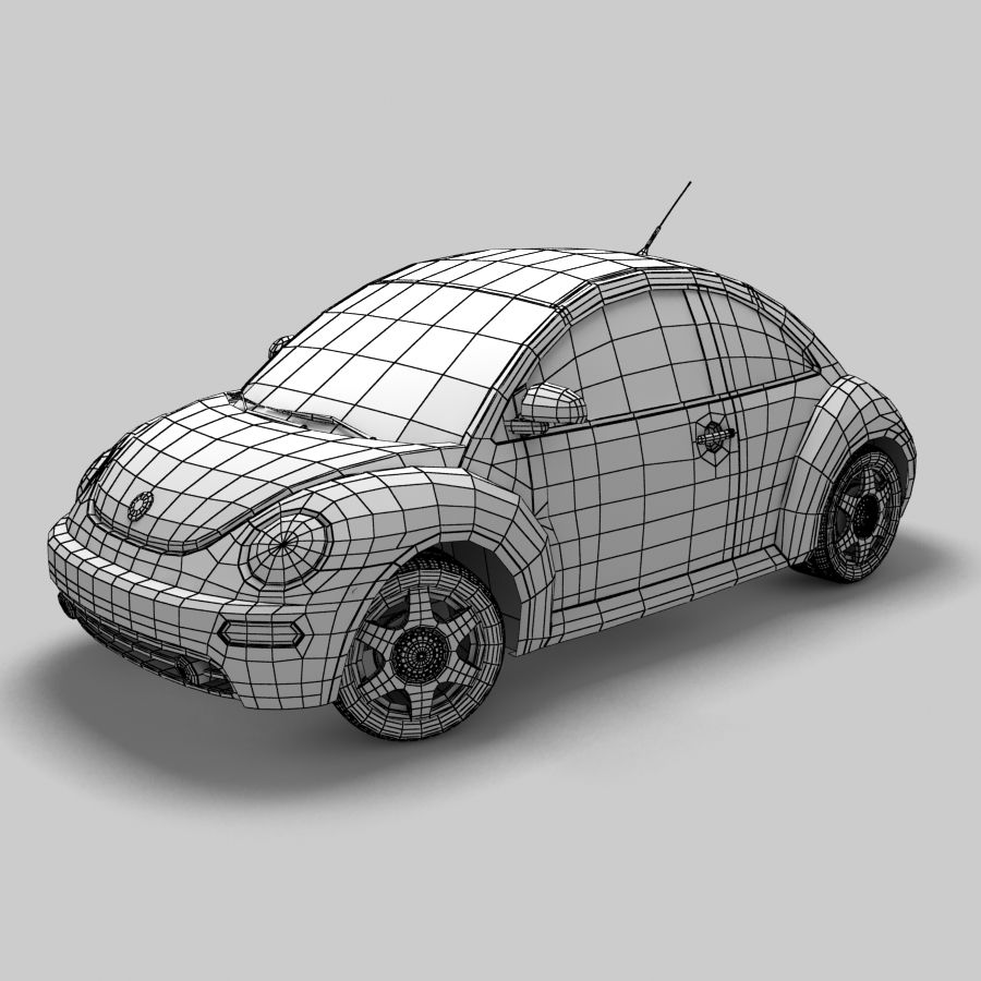 VW New Beetle royalty-free modelo 3d - Preview no. 8