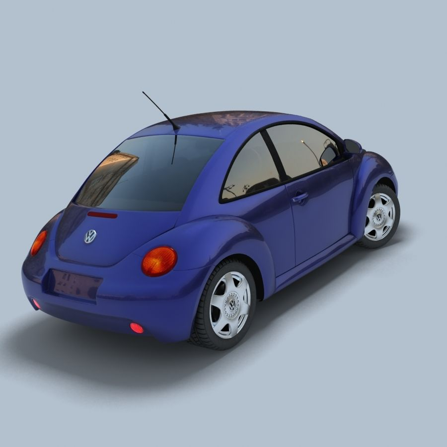VW New Beetle royalty-free modelo 3d - Preview no. 3