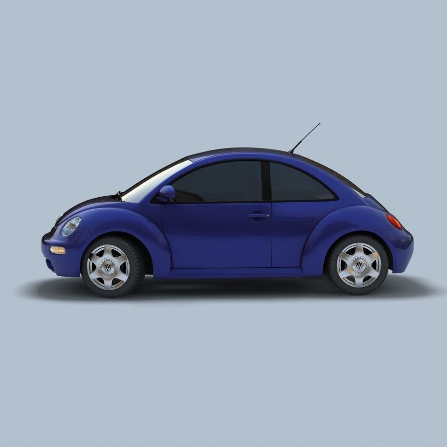 VW New Beetle royalty-free modelo 3d - Preview no. 5