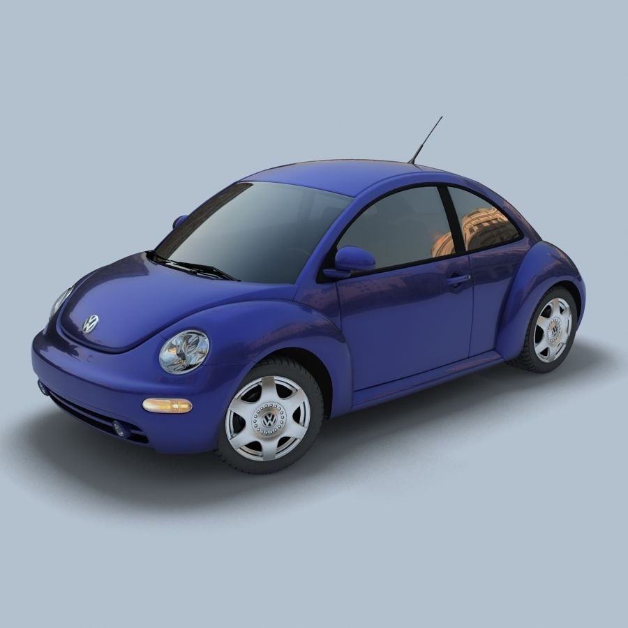 VW New Beetle royalty-free modelo 3d - Preview no. 2