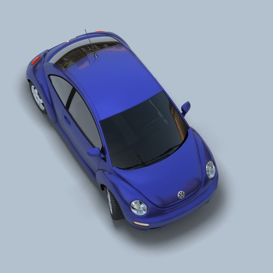 VW New Beetle royalty-free modelo 3d - Preview no. 7
