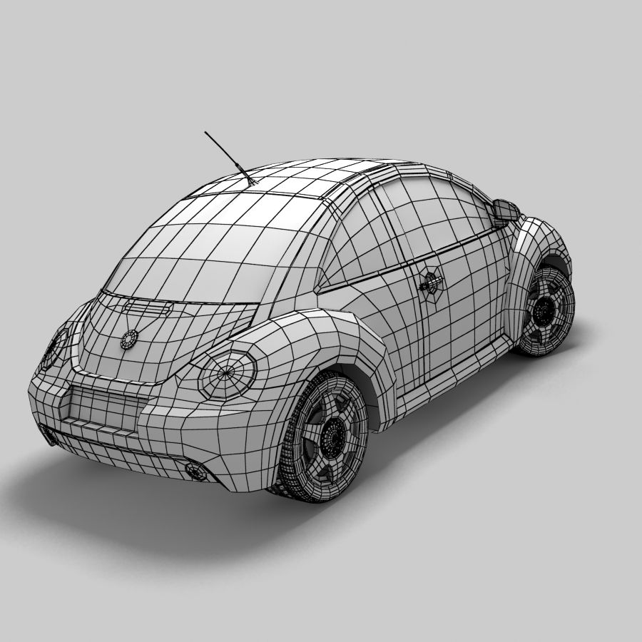 VW New Beetle royalty-free modelo 3d - Preview no. 9