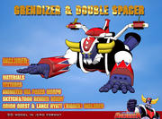 grendizer & double spacer 3d model