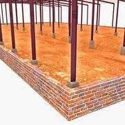 Building Steel Frame 3d model