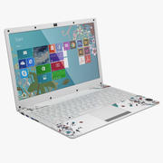 白色笔记本电脑14 3d model