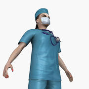 Женский доктор 3d model