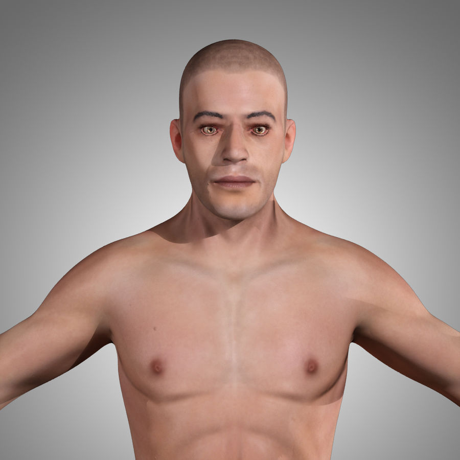Anatomie humaine Corps masculin (peau uniquement) royalty-free 3d model - Preview no. 2