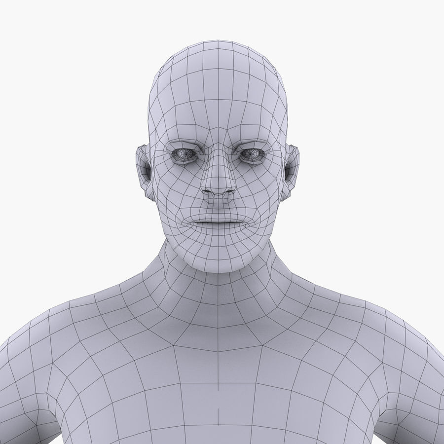 Anatomie humaine Corps masculin (peau uniquement) royalty-free 3d model - Preview no. 3