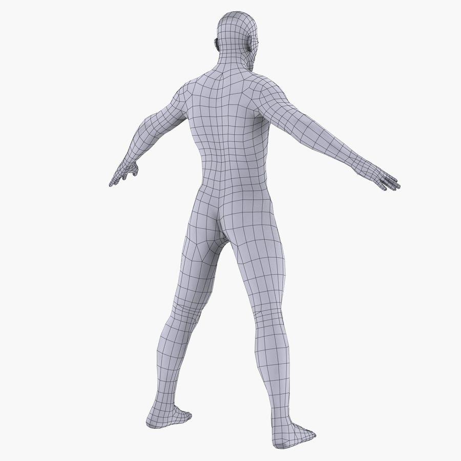 인체 해부학 신체 남성 (피부 만) royalty-free 3d model - Preview no. 18