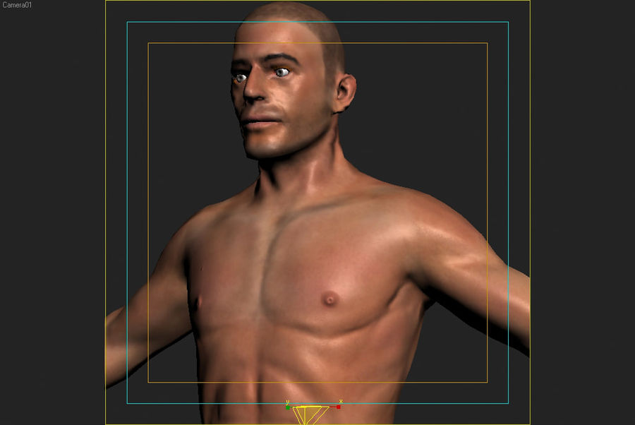 인체 해부학 신체 남성 (피부 만) royalty-free 3d model - Preview no. 1