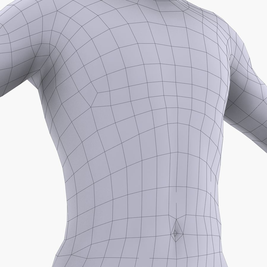 Anatomie humaine Corps masculin (peau uniquement) royalty-free 3d model - Preview no. 5