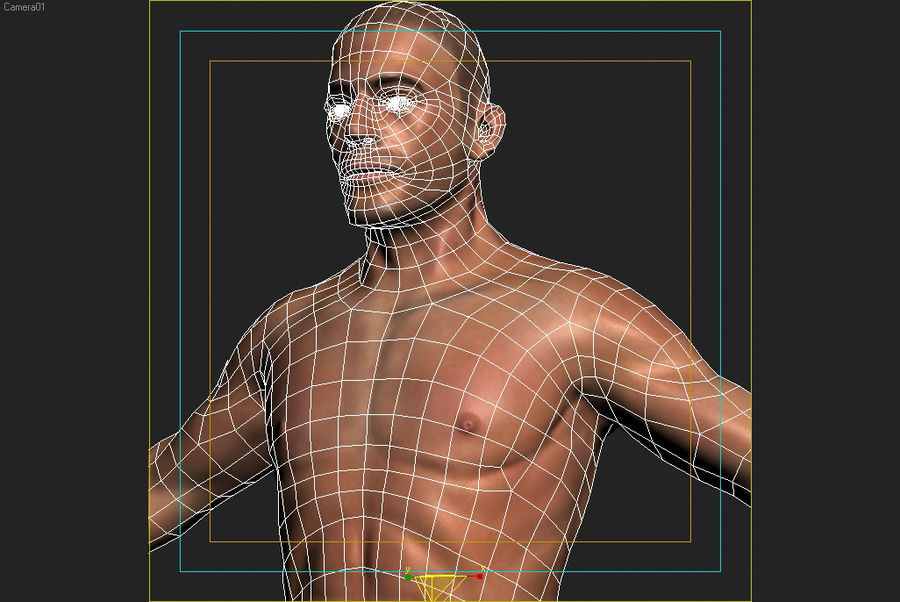 Anatomie humaine Corps masculin (peau uniquement) royalty-free 3d model - Preview no. 10
