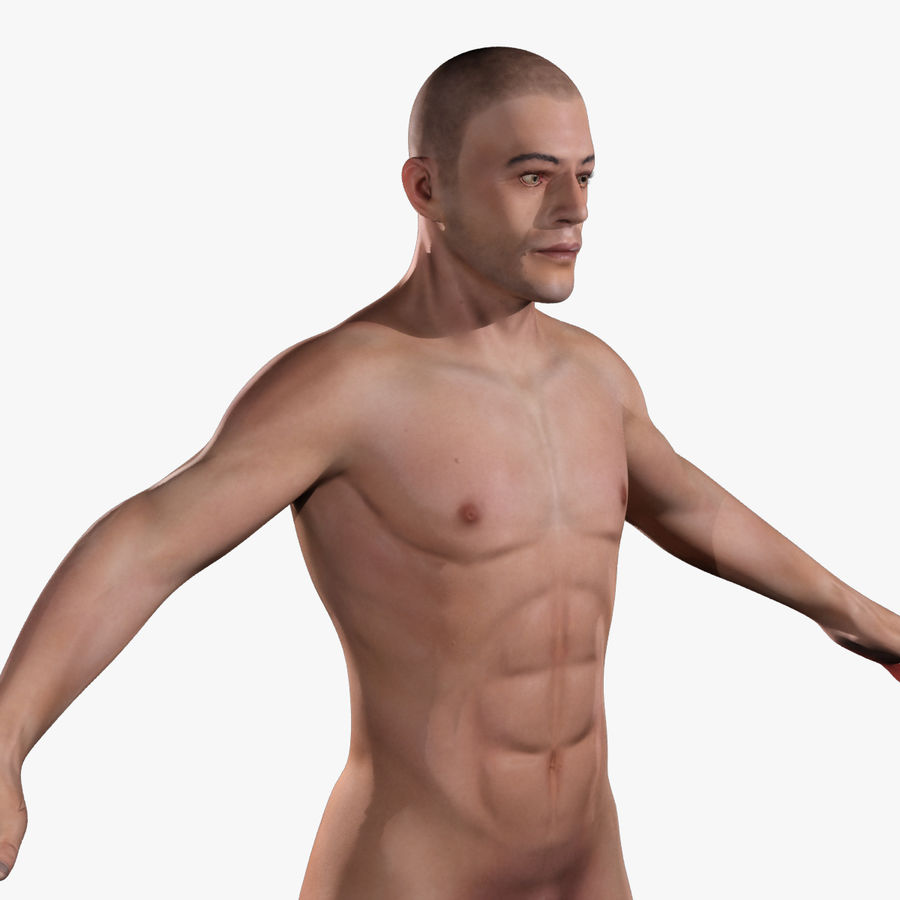 Anatomie humaine Corps masculin (peau uniquement) royalty-free 3d model - Preview no. 8