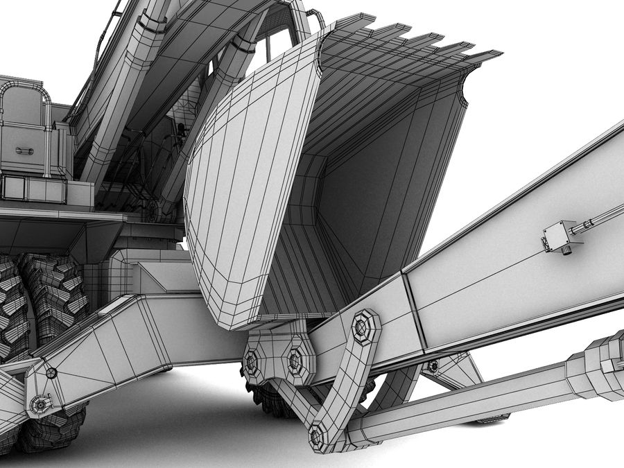 Excavator royalty-free 3d model - Preview no. 23