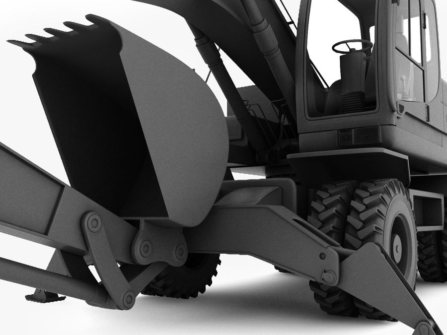 Excavator royalty-free 3d model - Preview no. 2