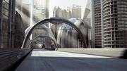 Futuristic Modern Street / Road 3d model