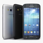 Samsung Galaxy Core LTE czarno-biały 3d model