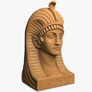 Popiersie Egiptu 3d model