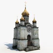 Opuszczony kościół prawosławny 3d model