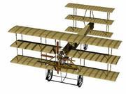 Avro三翼飞机 3d model