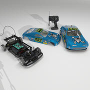 RC Car AAA Powered 3d model